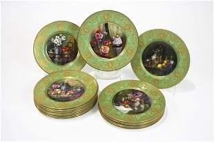Royal Worcester, WJ Bagnall Porcelain Plates