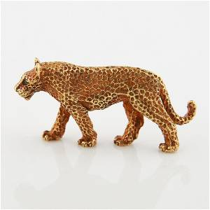 Tiffany and Co., 18kt Leopard Brooch