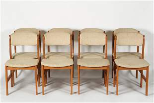 Benny Linden, Set of Eight Teak Dining Chairs