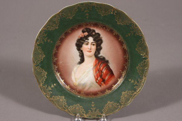1: Prussia Porcelain Cabinet Plate, German, Early 20th