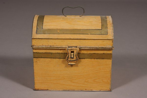 7: Tole Decorated Box, American, 19th Century, Height: