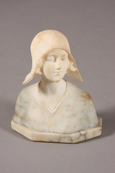 19: Unknown Artist, Continental, 20th C. Bust of Maiden