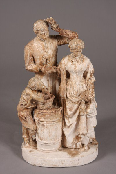 "27: Plaster of Paris Figural Group, Possibly Rogers""Tak"