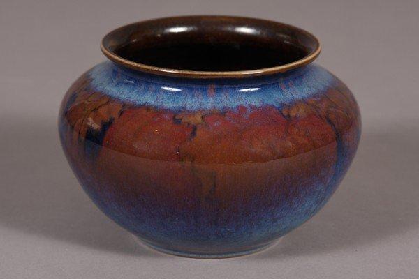 "29: Rookwood, Vase, Wilcox, Black Opal Glaze,  5 1/4"" x"