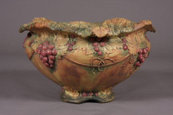 34: Weller Pottery Jardiniere, American, 20th C. Grape