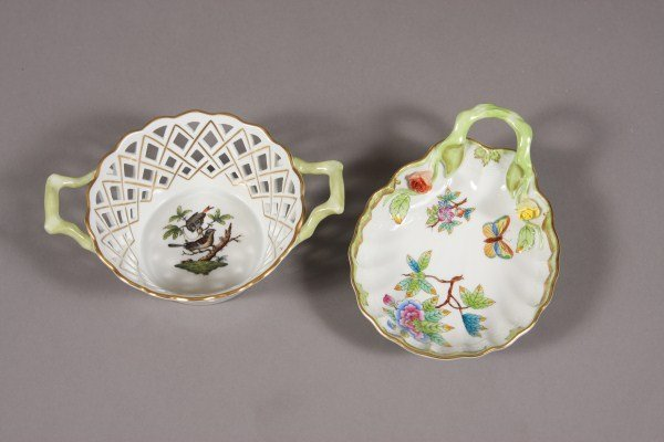 14: Two Herend Porcelain Bowls, Hungarian, 20th Century