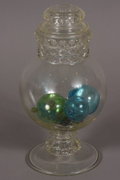 17: Molded Glass Apothecary Jar, American, 20th Century