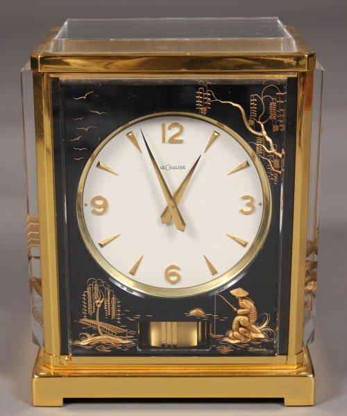 236: LeCoultre Brass Toned Metal & Lucite Bracket Clock