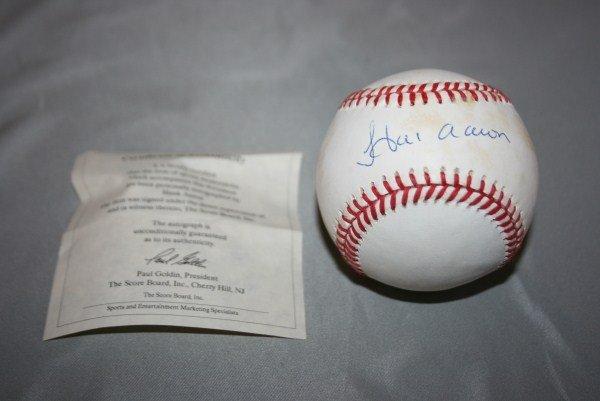 6: Hank Aaron Autographed Official NL Baseball