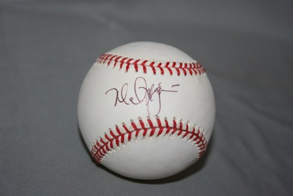 13: Mark McGwire Autographed Official NL Baseball