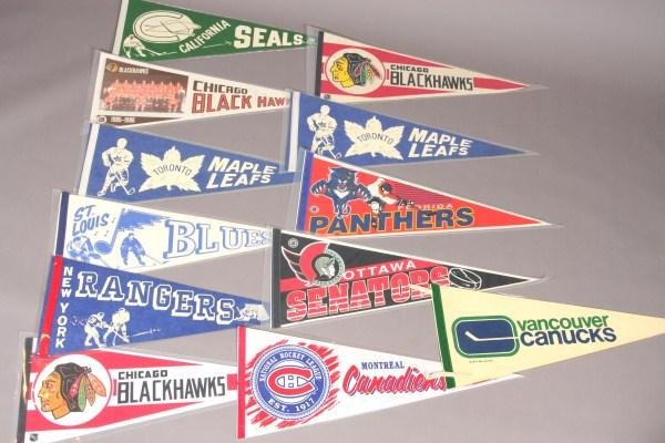 17: 12 Hockey Pennants From 1970's to Present