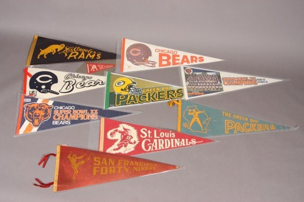 19: 18 Football Pennants From 1960's to Present