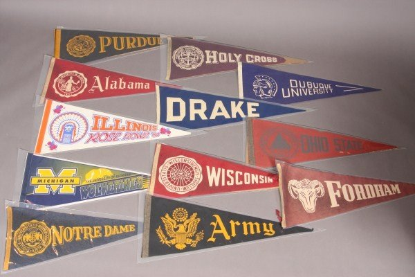 20: 31 NCAA Collegiate Pennants From 1960's to Present