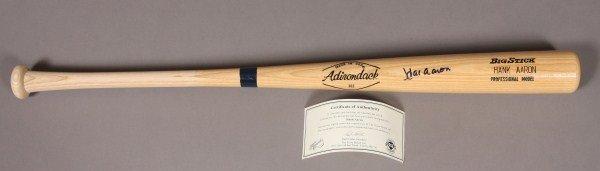 106: Hank Aaron Autographed Bat