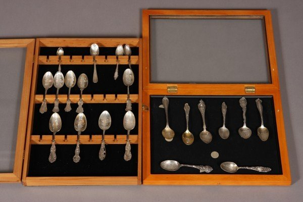 6: Collection of Twenty-One Sterling & Silver Plated Co