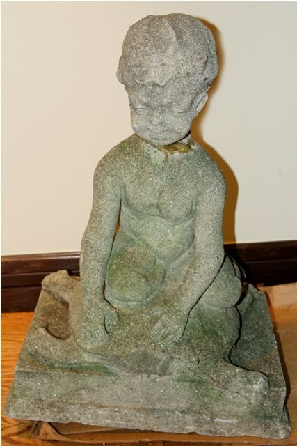 16: Carved Stone Garden Statue, American, 20th C., Chil