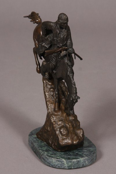 21: After Frederick Remington, Bronze Native American o