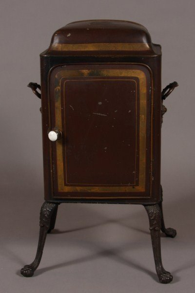 1: Victorian Tole Biscuit Safe, English, Late 19th. Ear