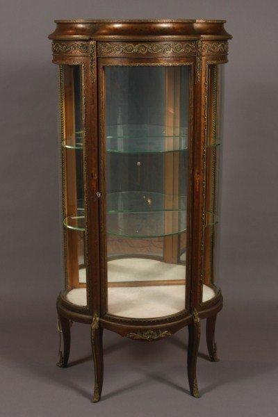 6: Louis XV Style Gilt & Brass Mounted Vitrine, French,