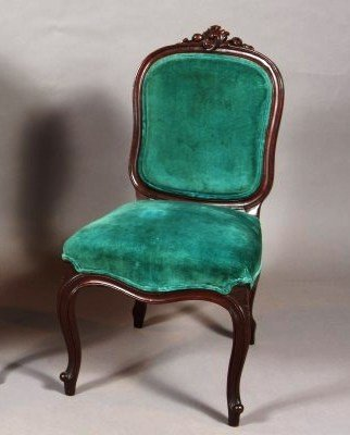 18: Louis XV Style Mahogany Side Chair, French, 20th Ce