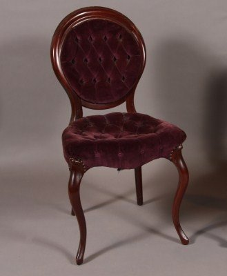 19: Louis XV Style Mahogany Side Chair, French, 20th Ce
