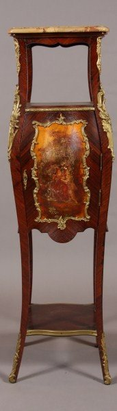 23: Louis XV Style Brass Mounted Kingwood & Painted Cab