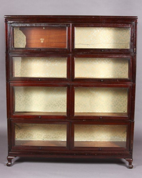6: Late Victorian Mahogany Finished Four Tiered Lawyers