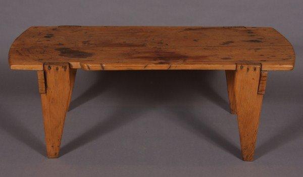 16: Primitive Pine Bench, American, Late 19th Century