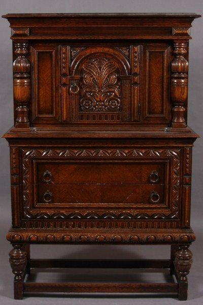 9: Jacobean Style Oak Server, American, 20th Century