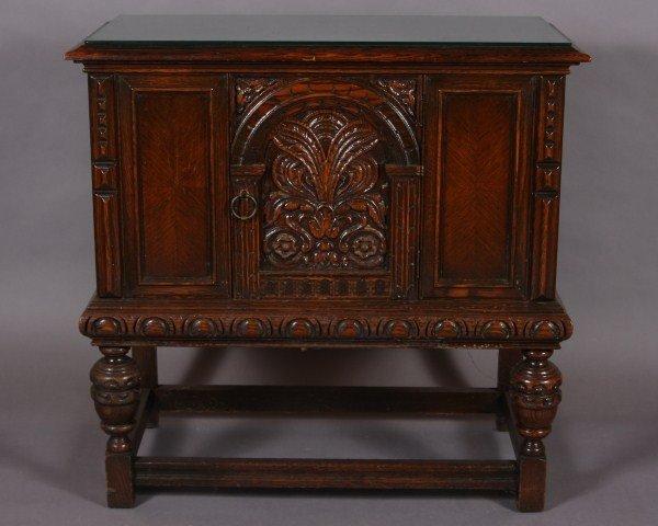10: Jacobean Style Oak Cabinet, American, 20th Century