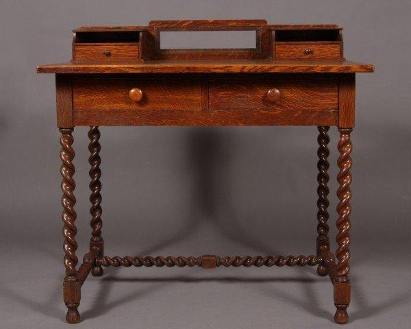 12: Arts & Crafts Oak Desk, American, First Quarter 20t
