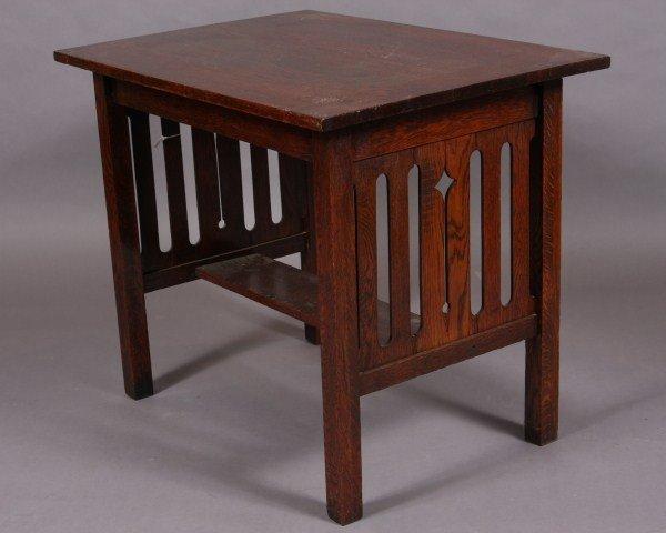 13: Arts & Crafts Oak Table, American, Early 20th Centu