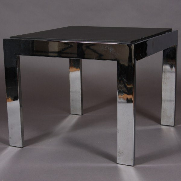 23: Mid Century Chrome & Formica Side Table, American,