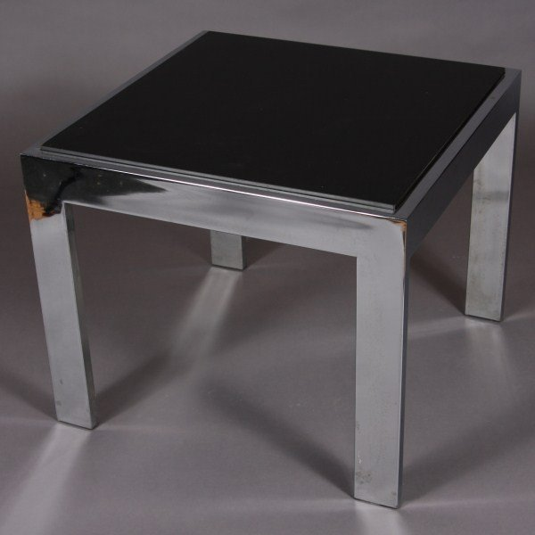 23: Mid Century Chrome & Formica Side Table, American,  - 2