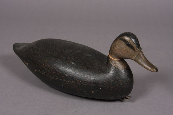 193: Carved & Painted Wood Duck Decoy, American,