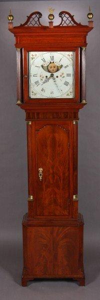 11: George III Mahogany Tall Case Clock, 18th C.