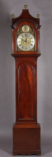 12: George III Mahogany Tall Case Clock, 18th C.