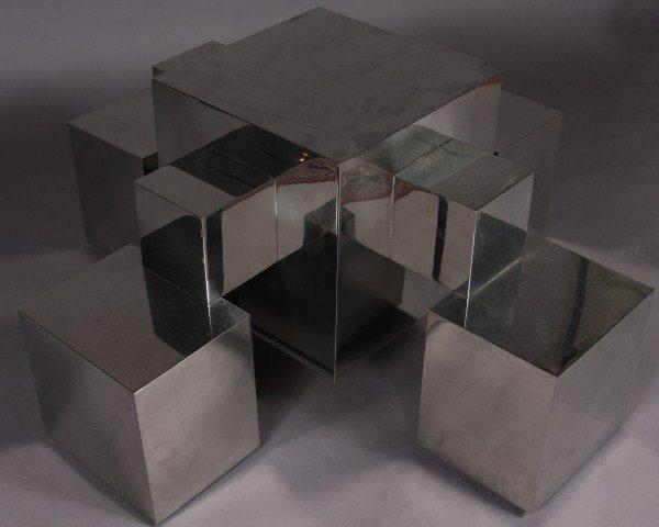 23: Mid-Century Chrome Table