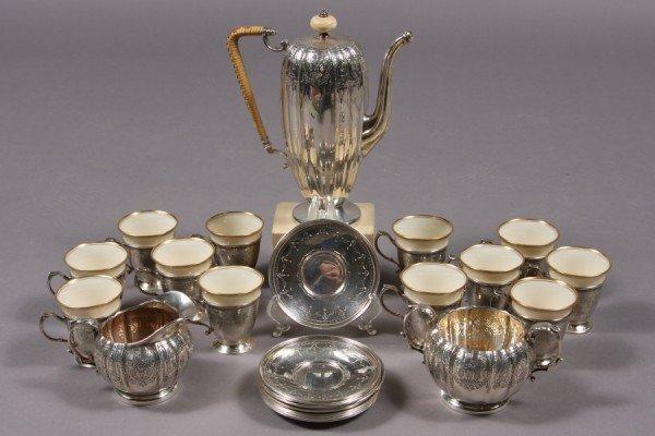 127: Durgin Gorham Sterling Silver After Dinner Coffee