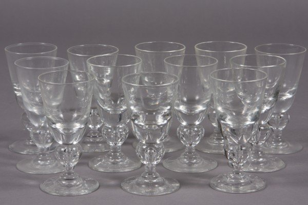 279: Set of Twelve Steuben Wine Glasses