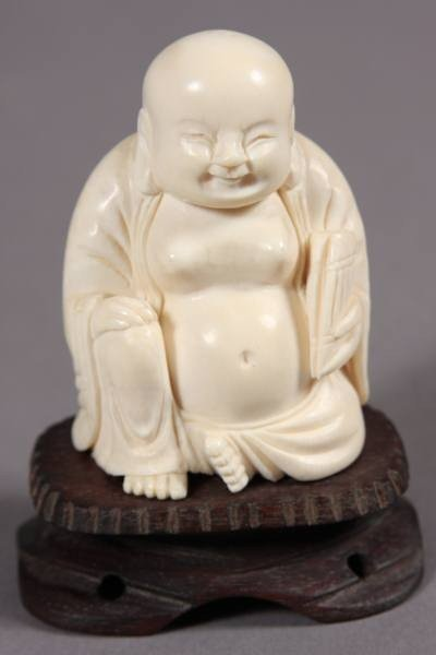 24: Carved Ivory Buddha, Japanese, 20th Century