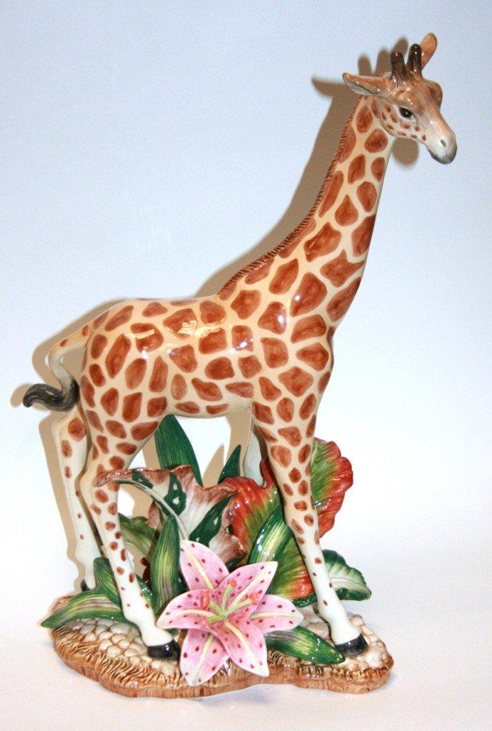 """224: Fitz & Floyd """"Exotic Jungle"""" Centerpiece Giraffe,"""