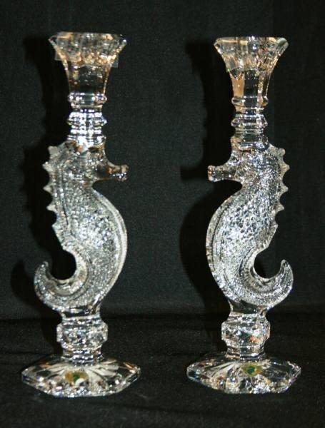 Waterford crystal oceana seahorse candlestick 415 waterford crystal oceana seahorse candlestick pa reviewsmspy