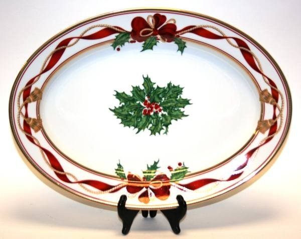 "471: Christopher Radko ""Holiday Splendor"" Oval Platter,"