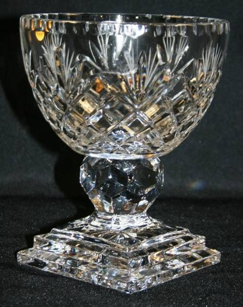 478: Cut Crystal Footed Compote, New