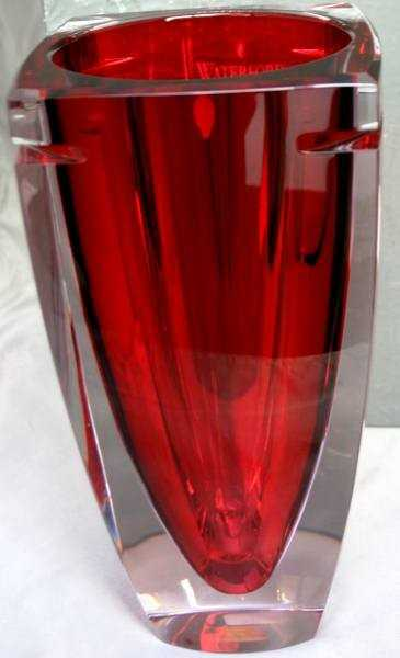 533 Waterford Metra 10 Red Crystal Vase New In Box