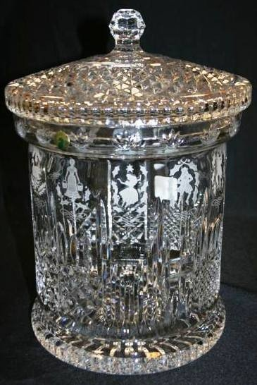 "682: Rare Waterford Crystal ""12 Days of Christmas"" Bisc"