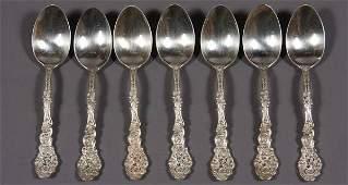 "68: Seven Gorham ""Versailles"" Sterling Silver Teaspoons"