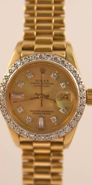 """175: Rolex 18K """"Oyster Perpetual Datejust"""" Watch"""