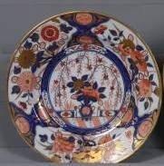 Imari Decorated Porcelain Plate, English, 19th Century